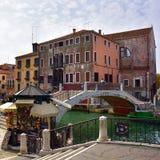 Venedig stads- liv Arkivfoto