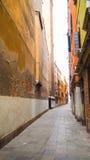 Venedig-Stadt mit buntem Gebäude Stockbild