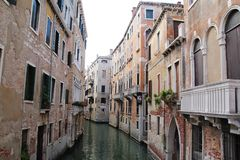 Venedig-Stadt mit ruhigem schönem stockbild