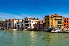 Venedig-Stadtbild, Wasserkanäle und traditionelle Gebäude Italien, Europa Stockbild