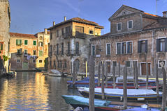 Venedig-Stadtszene Stockfotos