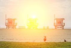 Venedig strand, Kalifornien Royaltyfri Foto