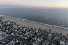 Venedig strand Kalifornien efter solnedgångantenn Arkivfoto
