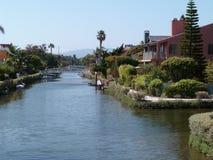 Venedig-Strand-Kanal Stockbild