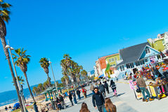 Venedig-Strand-Promenade lizenzfreies stockbild