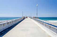 Venedig strandpir i Kalifornien Arkivbilder