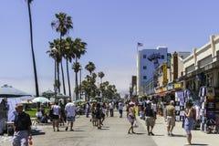 Venedig-Strandpromenade im Sommer lizenzfreies stockbild