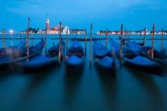 Venedig - suddiga gondoler Royaltyfri Foto