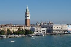 Venedig-Szene Str. markiert Quadrat Stockfotografie