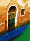 Venedig-Türäußeres Stockbild