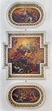 Venedig - takfreskomålning från kyrkliga chiesadi Santa Maria del Giglio Kröning av jungfruliga Mary som central bevekelsegrund - Royaltyfria Bilder