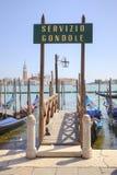 Venedig Tjänste- gondoler Royaltyfri Foto
