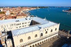 Venedig-Ufergegend und Palast des Doges Lizenzfreie Stockbilder
