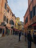 Venedig venzia i vintertid runt om jul och nya år december 2019 arkivfoto