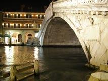Venedig vid natt Arkivfoton