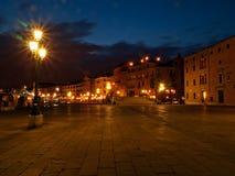Venedig vid natten, Italien Royaltyfria Foton