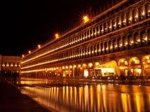 Venedig vid natten, Italien Royaltyfri Fotografi