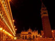 Venedig vid natten, Italien Royaltyfria Bilder