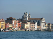 Venedig vom Giudecca-Kanal Stockfotografie