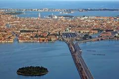Venedig vom Himmel Lizenzfreies Stockbild