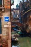 Venedig wenig Kanal stockfotografie