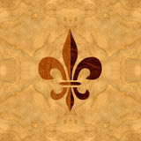 Veneer inlay Fleur-de-Lis Royalty Free Stock Images