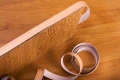 Veneer Tape. Veneer taping. Do it yourself Stock Photo