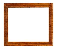 Veneered wooden frame isolated on white Royalty Free Stock Photos