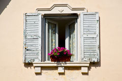 Venegono window  varese palaces italy   abstract Stock Image