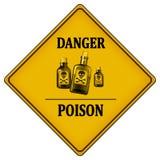 Veneno del peligro stock de ilustración