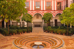 Venerable Hospital. The Venerable Priests Hospital of Seville is a seventeenth century Baroque building that served as a residence for priests, and currently is royalty free stock photo
