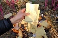 Veneración del antepasado en China Imágenes de archivo libres de regalías