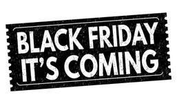 Venerdì nero è timbro di gomma venente di lerciume illustrazione vettoriale