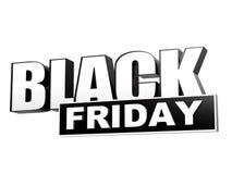 Venerdì nero in insegna bianca nera - lettere e blocco royalty illustrazione gratis