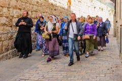 Venerdì santo ortodosso a Gerusalemme Immagine Stock