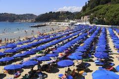 Venere Azzurra海滩,莱里奇,意大利,利古里亚里维埃拉 免版税库存图片