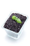 Venere black rice on white background Royalty Free Stock Photography