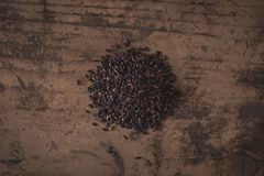Venere Italiaanse zwarte rijst Royalty-vrije Stock Foto's