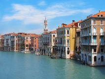 Venetië Architectuur en stadskanaal Stock Afbeelding