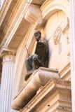 Venetië, Basiliek San Marco, detail van een standbeeld stock foto's