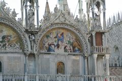 Venetië, Basiliek van San Marco, mozaïek royalty-vrije stock foto's