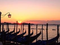Venetië bij dageraad stock fotografie