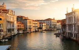 Venetië bij de dageraad stock foto