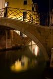 Venetië bij nacht royalty-vrije stock foto