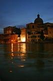 Venetië bij nacht stock foto