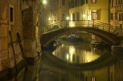 Venetië bij nacht Stock Fotografie