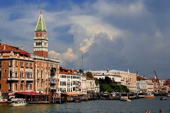 Venetië bij Schemer Royalty-vrije Stock Foto's