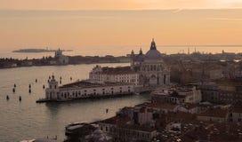 Venetië bij zonsondergang Royalty-vrije Stock Afbeelding