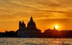 Venetië bij zonsondergang Stock Foto