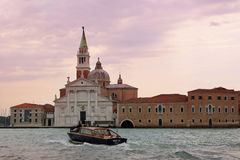Venetië bij zonsondergang Royalty-vrije Stock Foto's